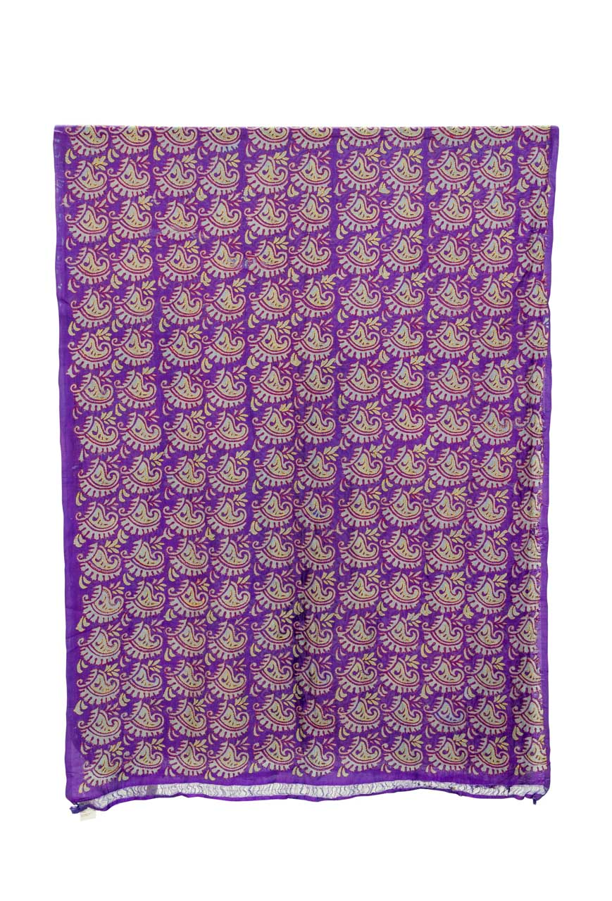 Tela decorativa India Floral purpura