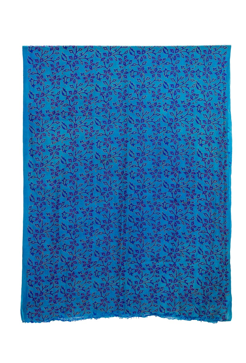 Tela decorativa India Floral azul