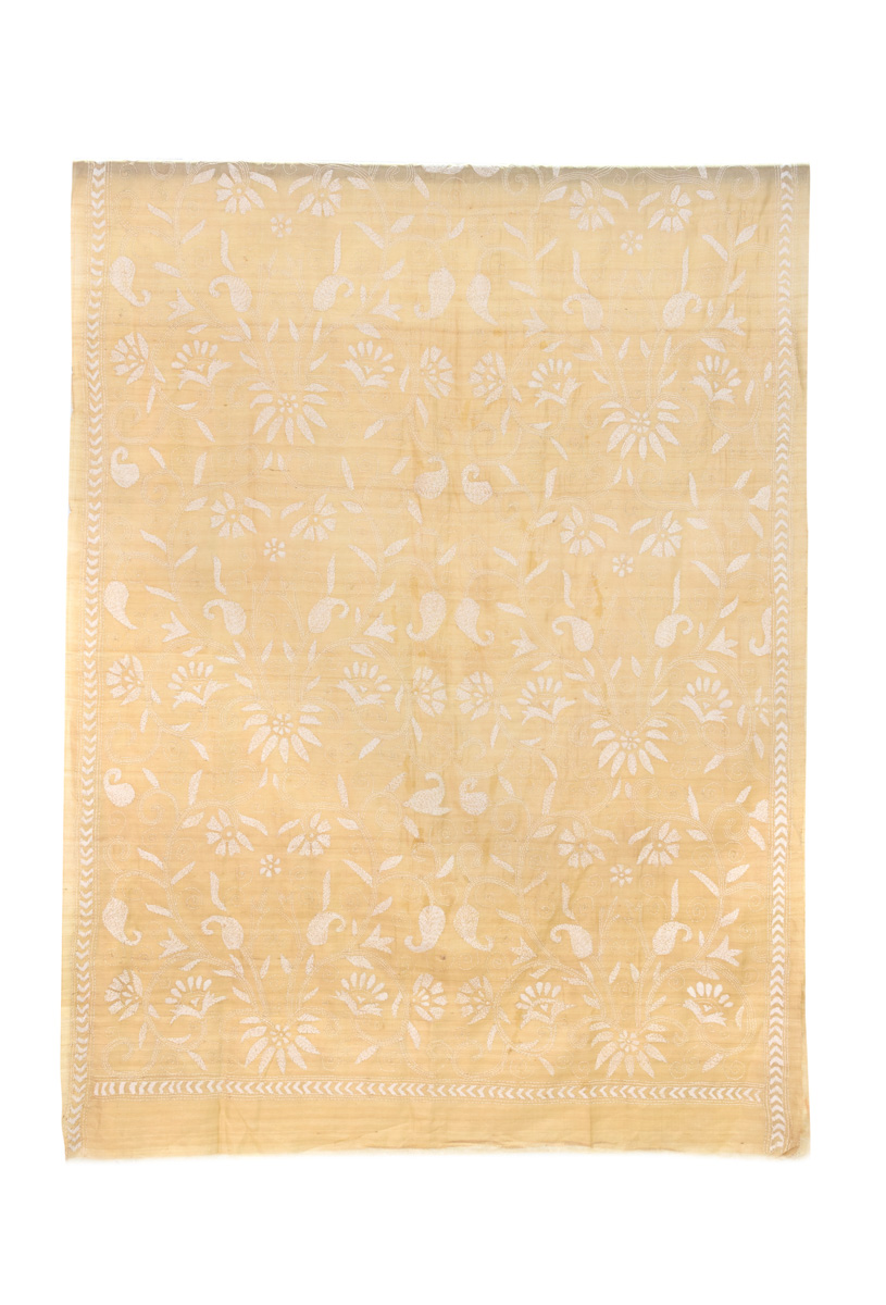 Tela Decorativa India Floral Beige