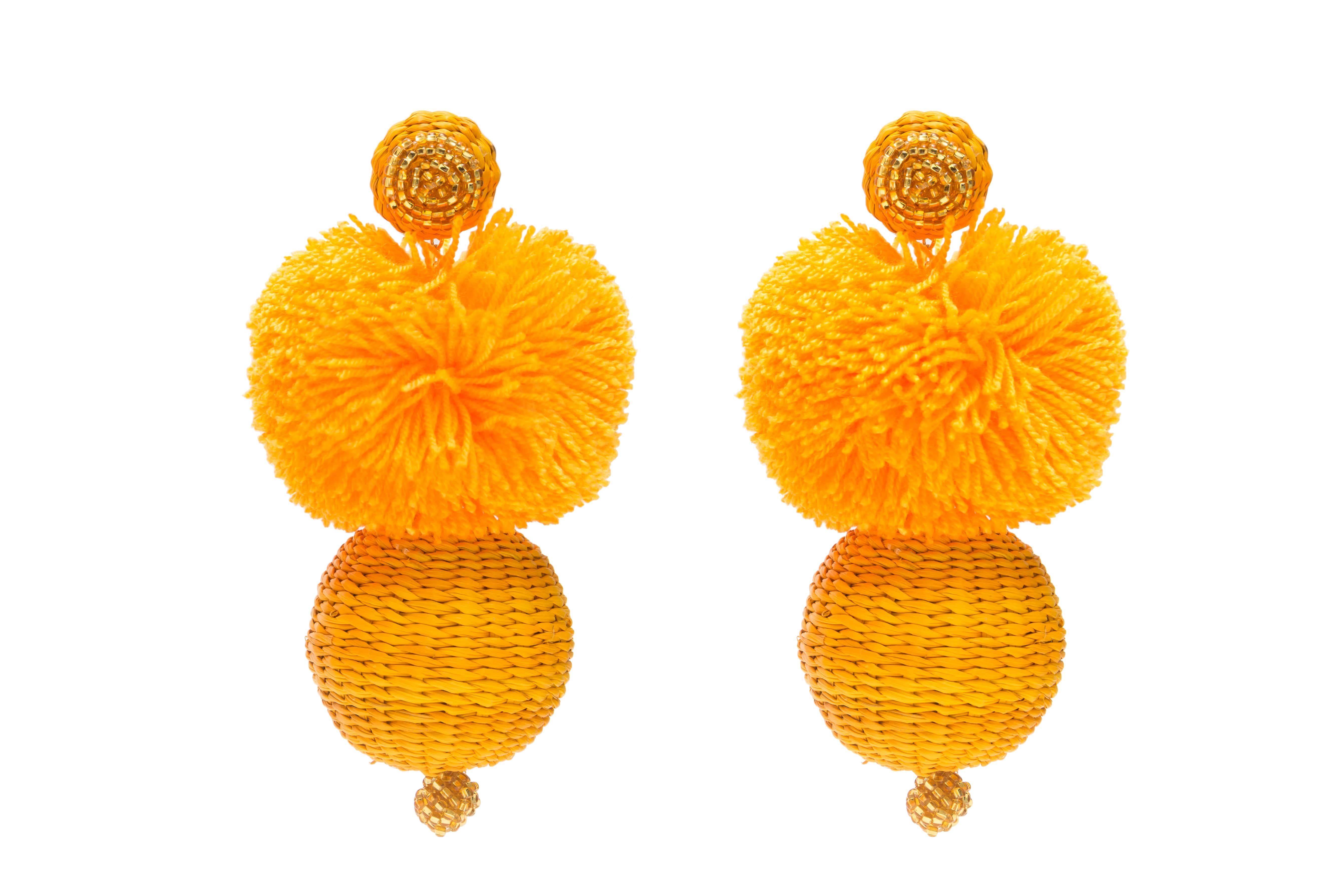 Arete Frufru amarillo