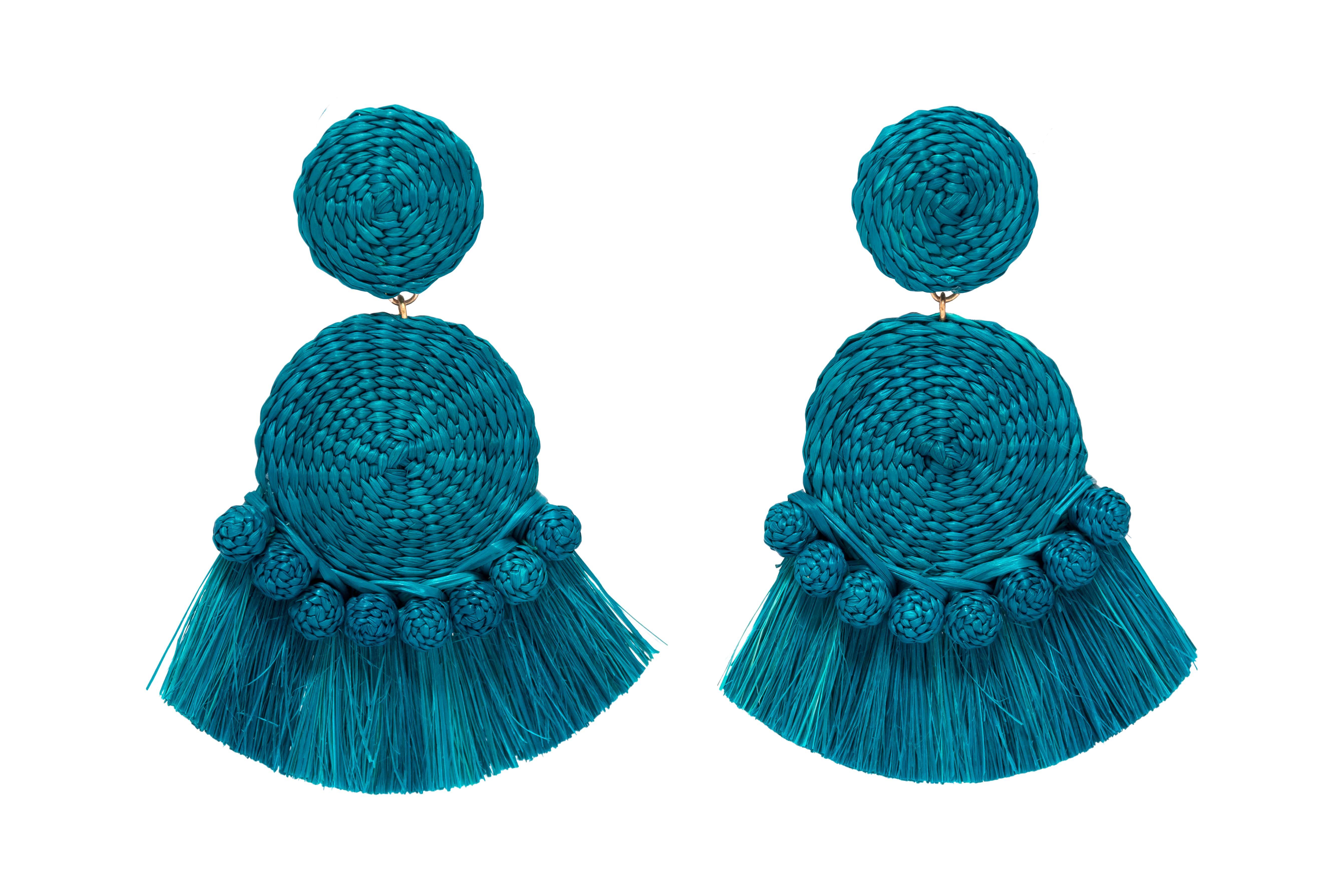 Arete Gustavo azul turquesa