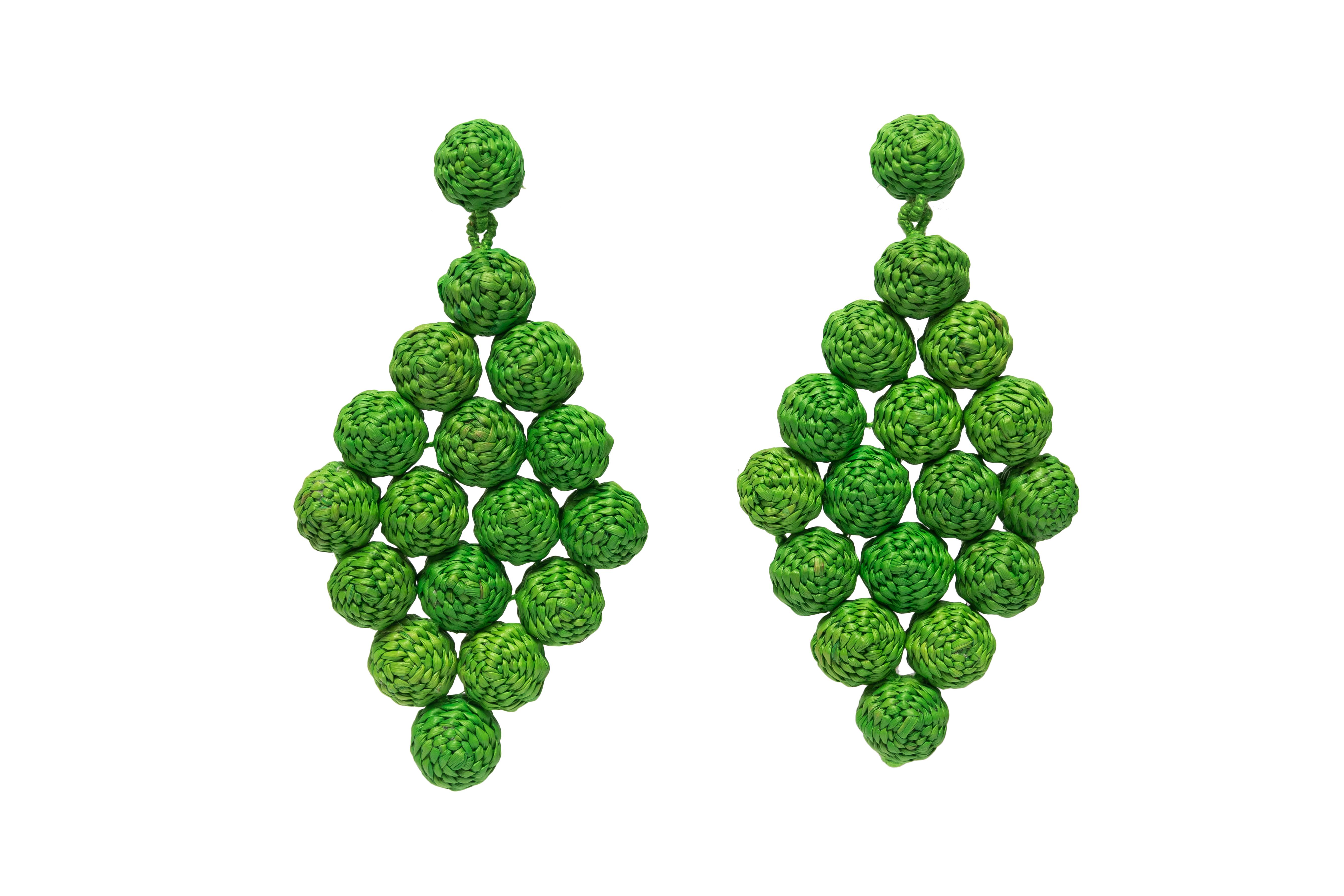 Aretes Rombo # 2, verde