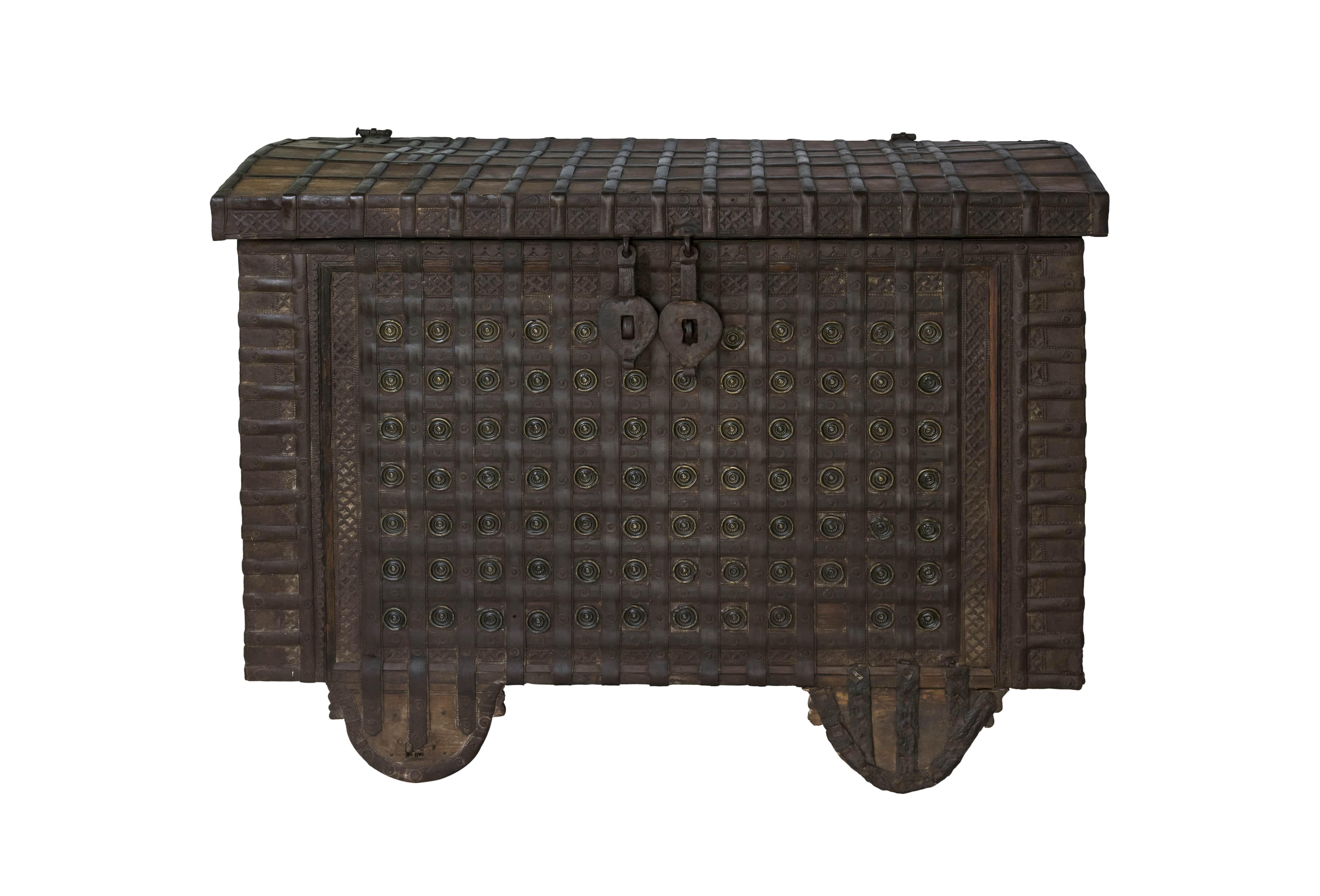 Baúl de madera teka antigua