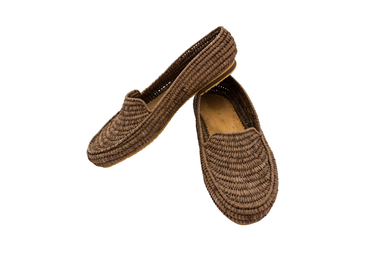 Zapatos Marroqui Raffia café