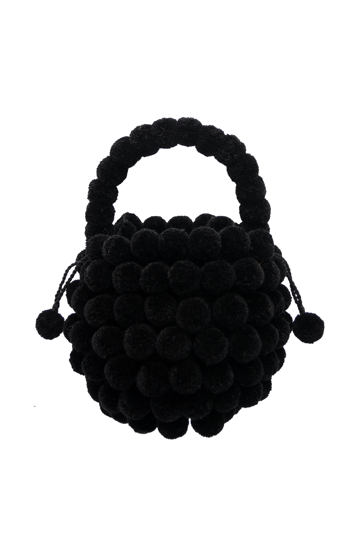Mochila Multi-Pompon,Negra