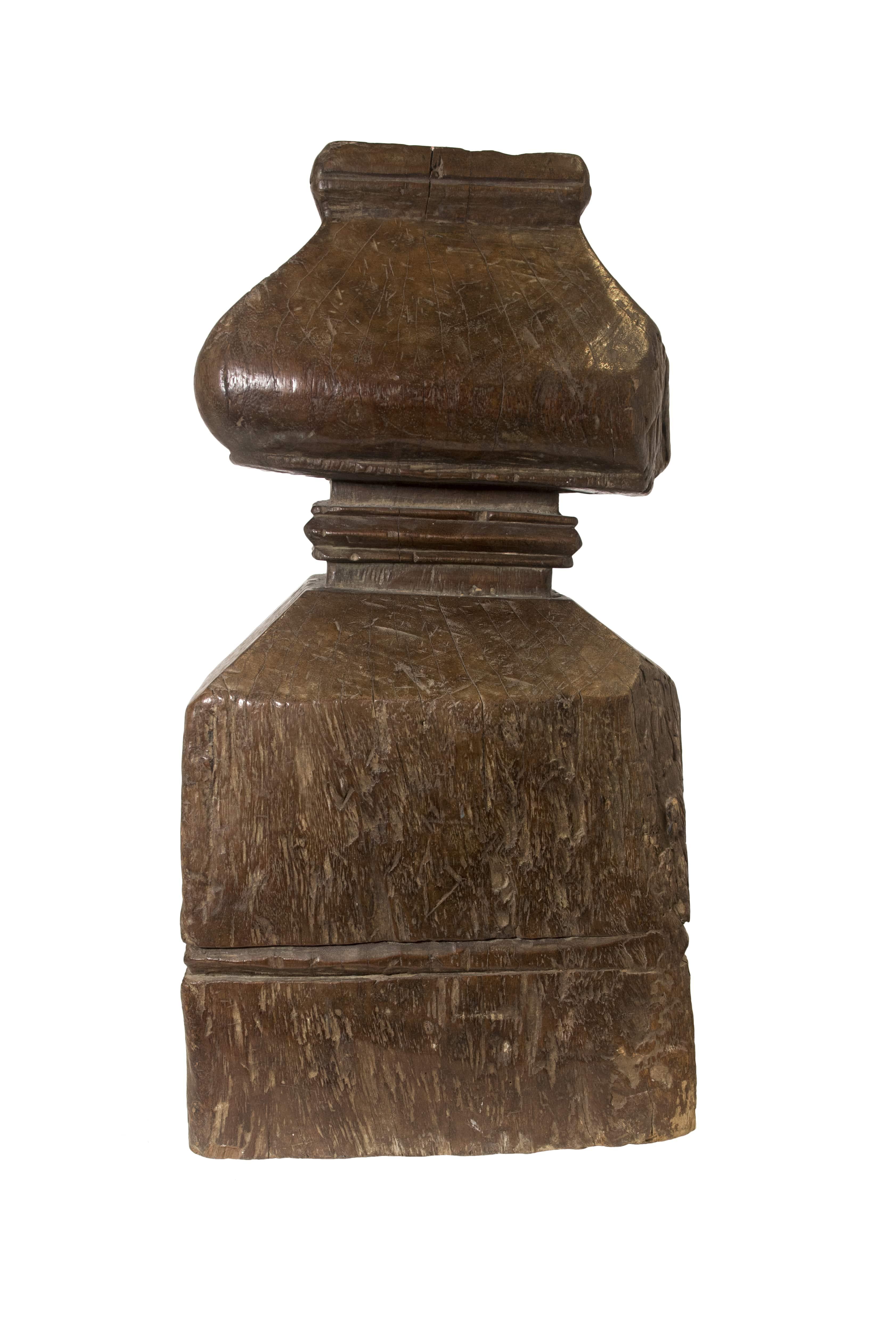 Portavela en madera café