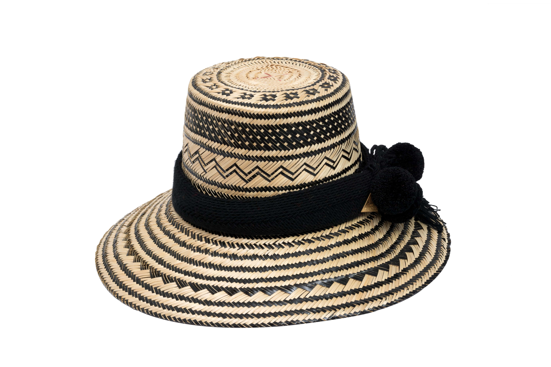 Sombrero Wayuu negro