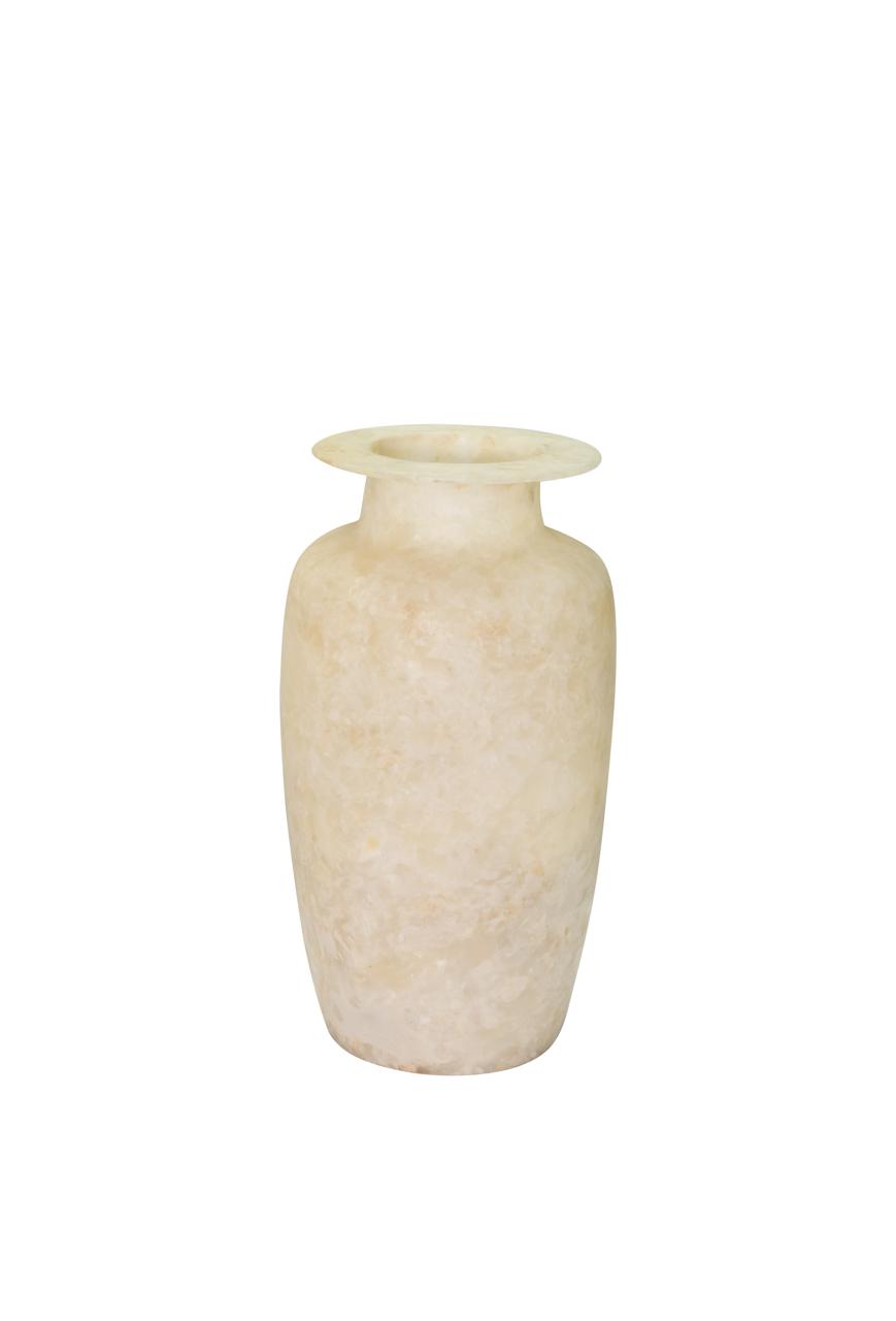 Jarrón de alabastro egipcio 33 cms