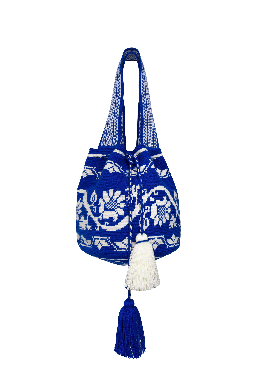 Mochila Wayúu Azul Rey
