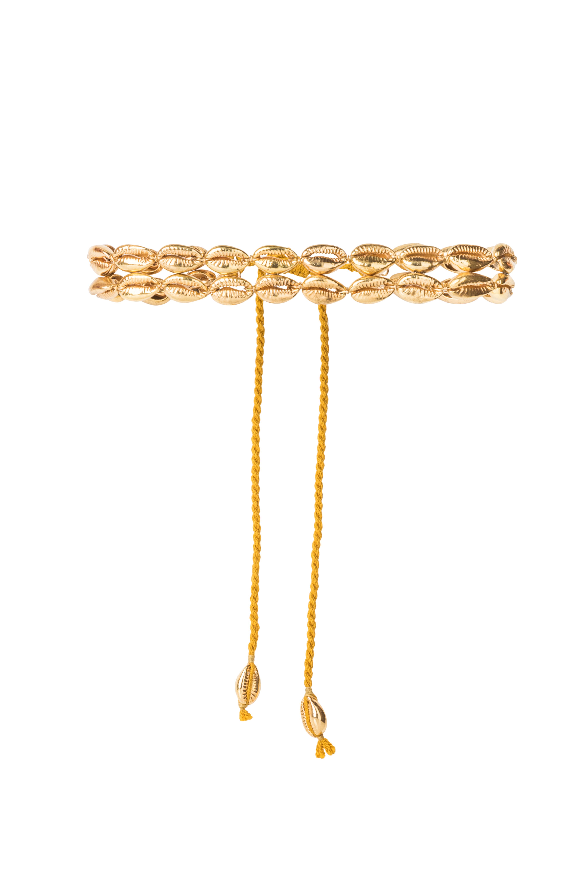 Choker doble  caracoles dorados