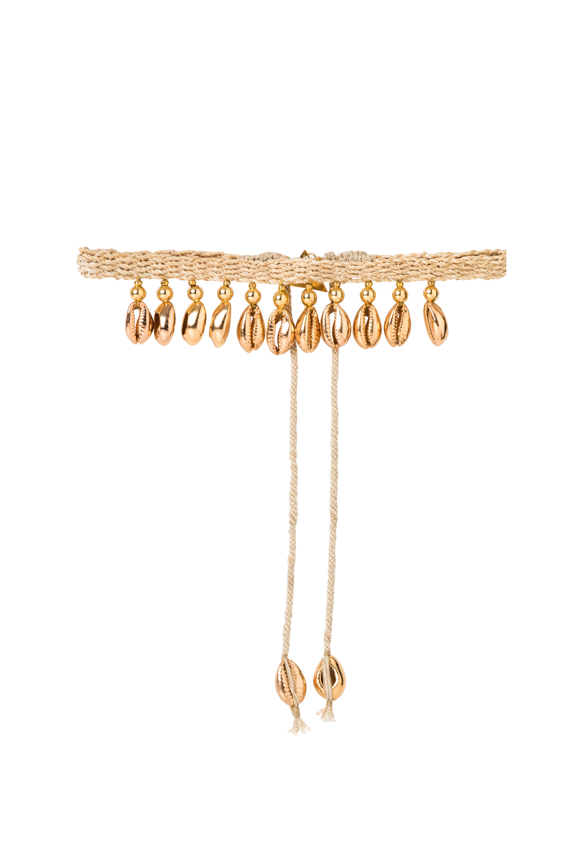 Choker caracoles dorados colgantes