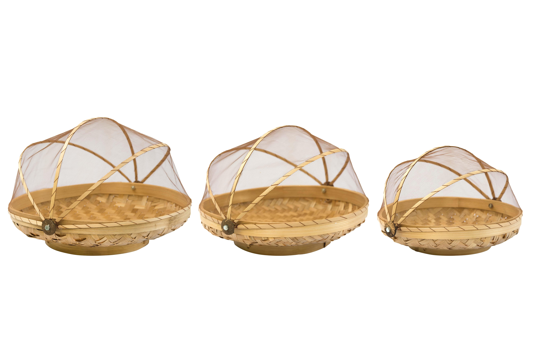 Set de  bandejas en bamboo