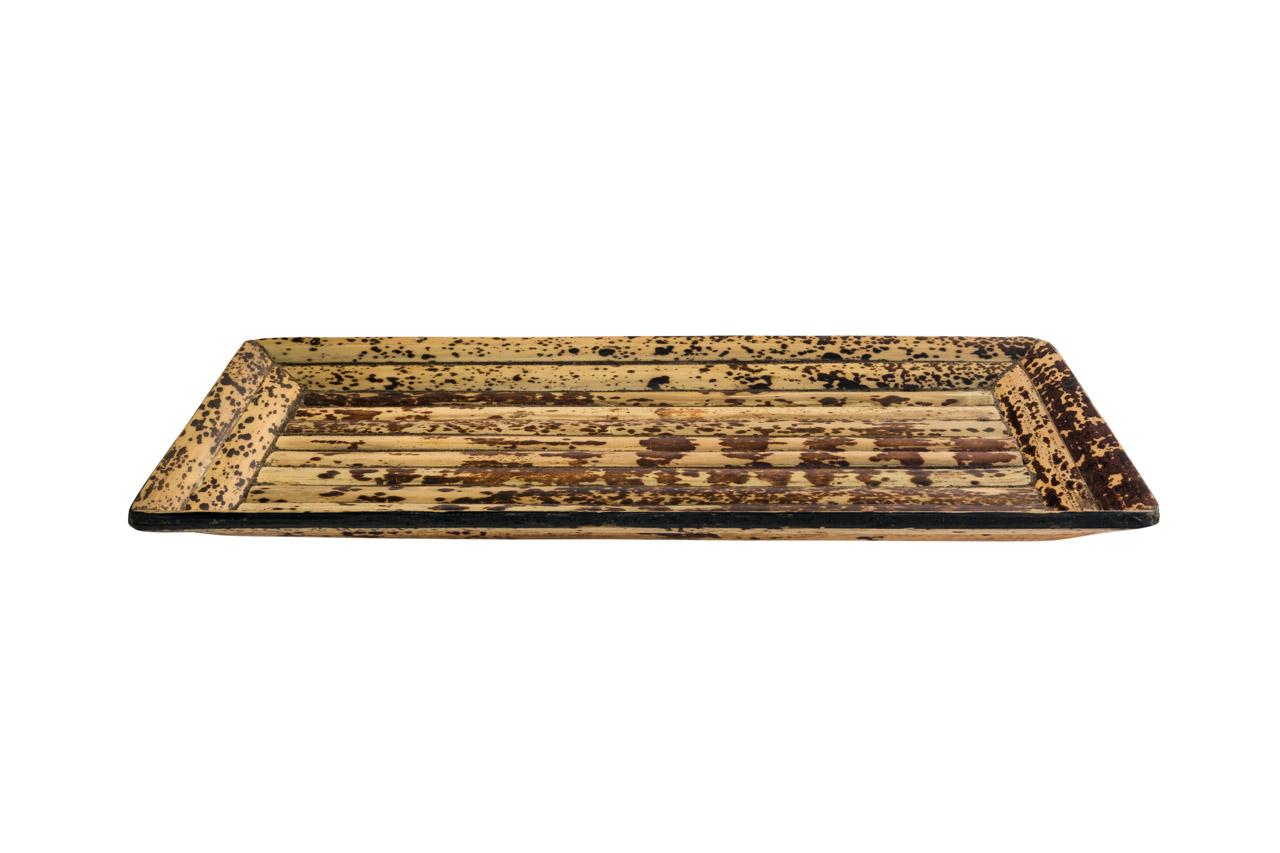 Bandeja en madera rectangular