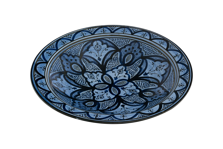 Plato Marroquí Pintado Azul