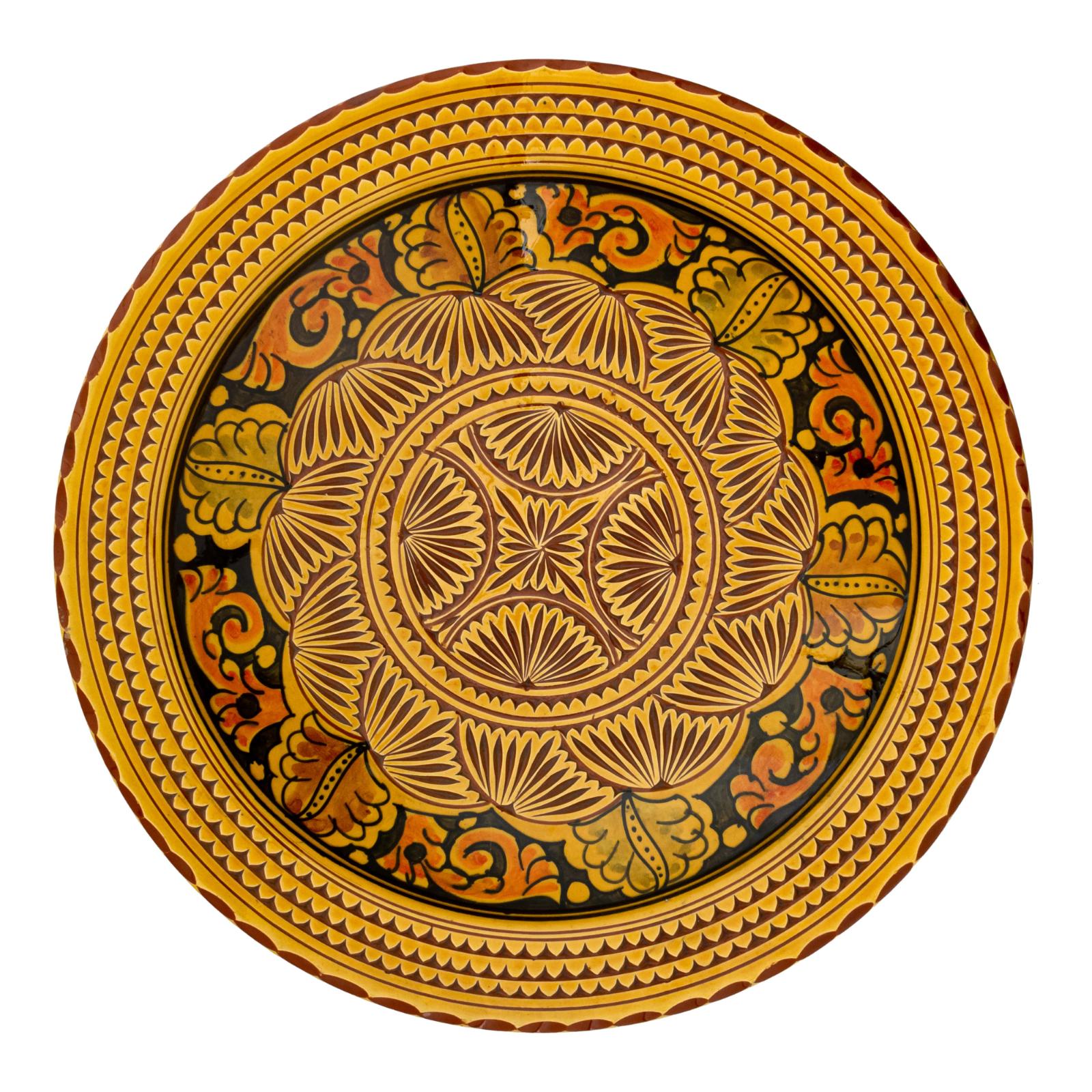 Plato de Marruecos tallado a mano
