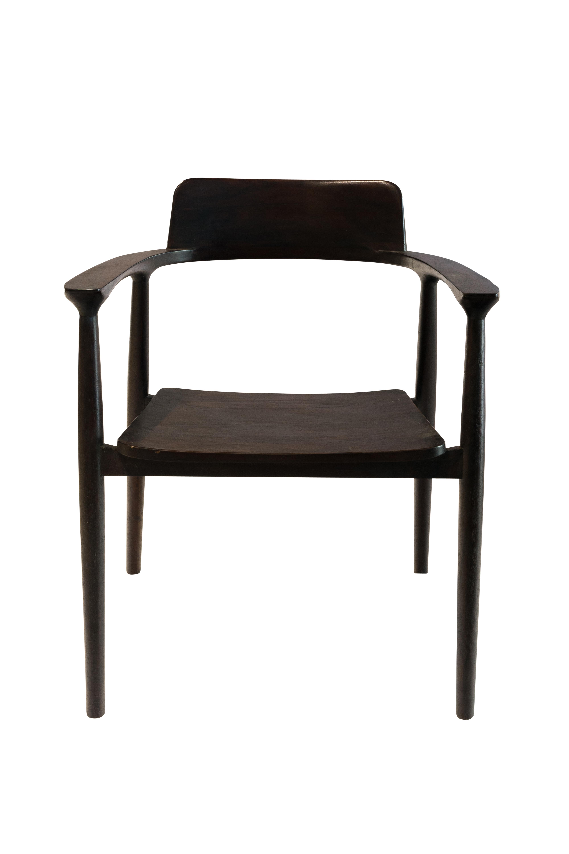 Brown teak wood chair