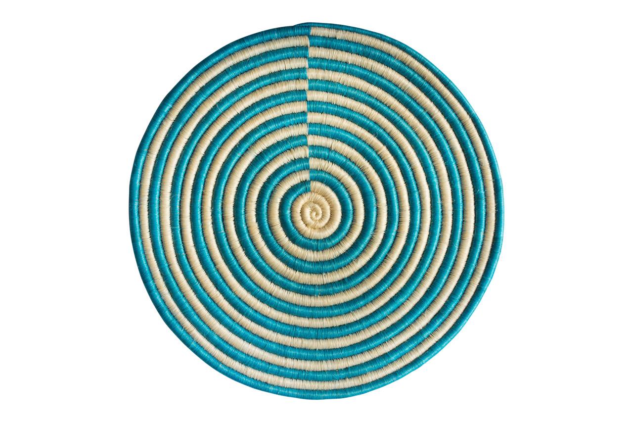 Guacamaya placemat set, turquoise