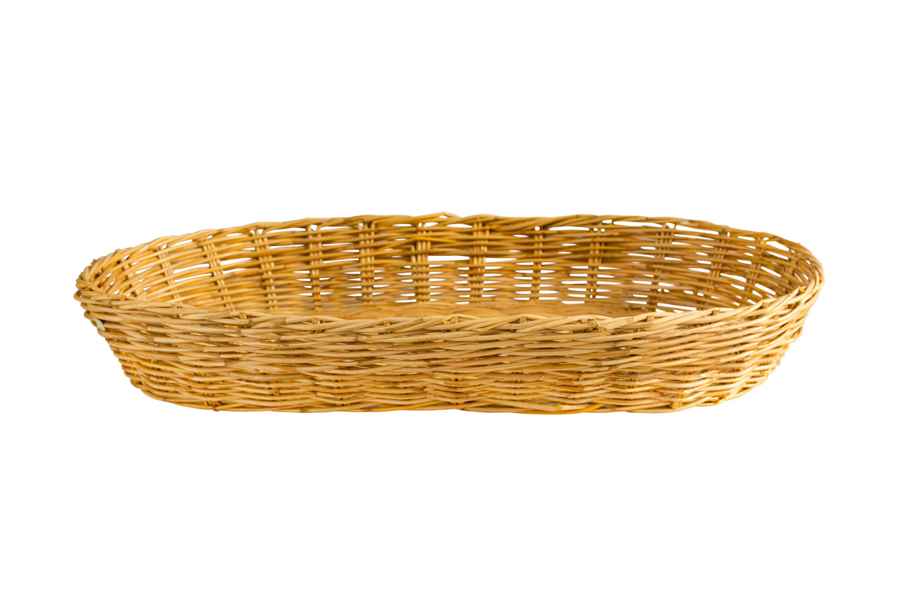 Oval tray in natural fiber