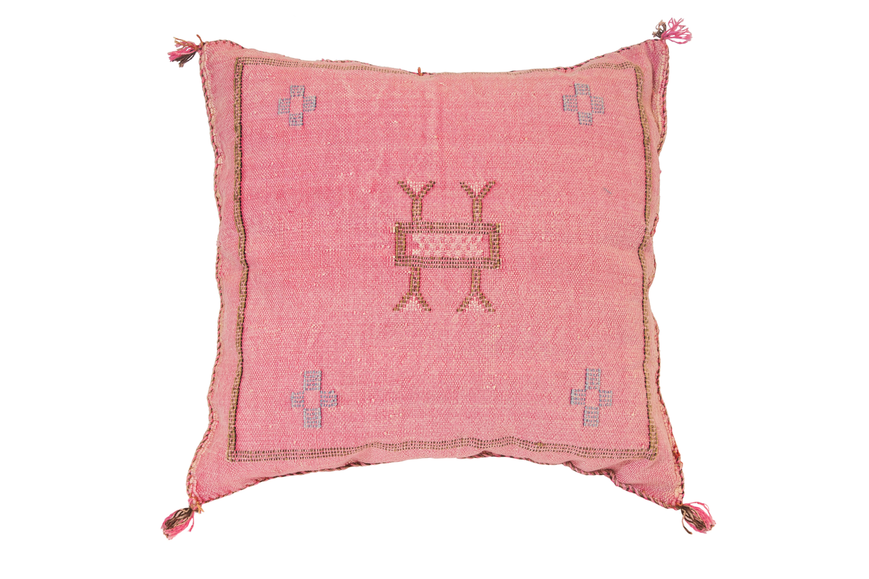 Sabra Moroccan pink cushion