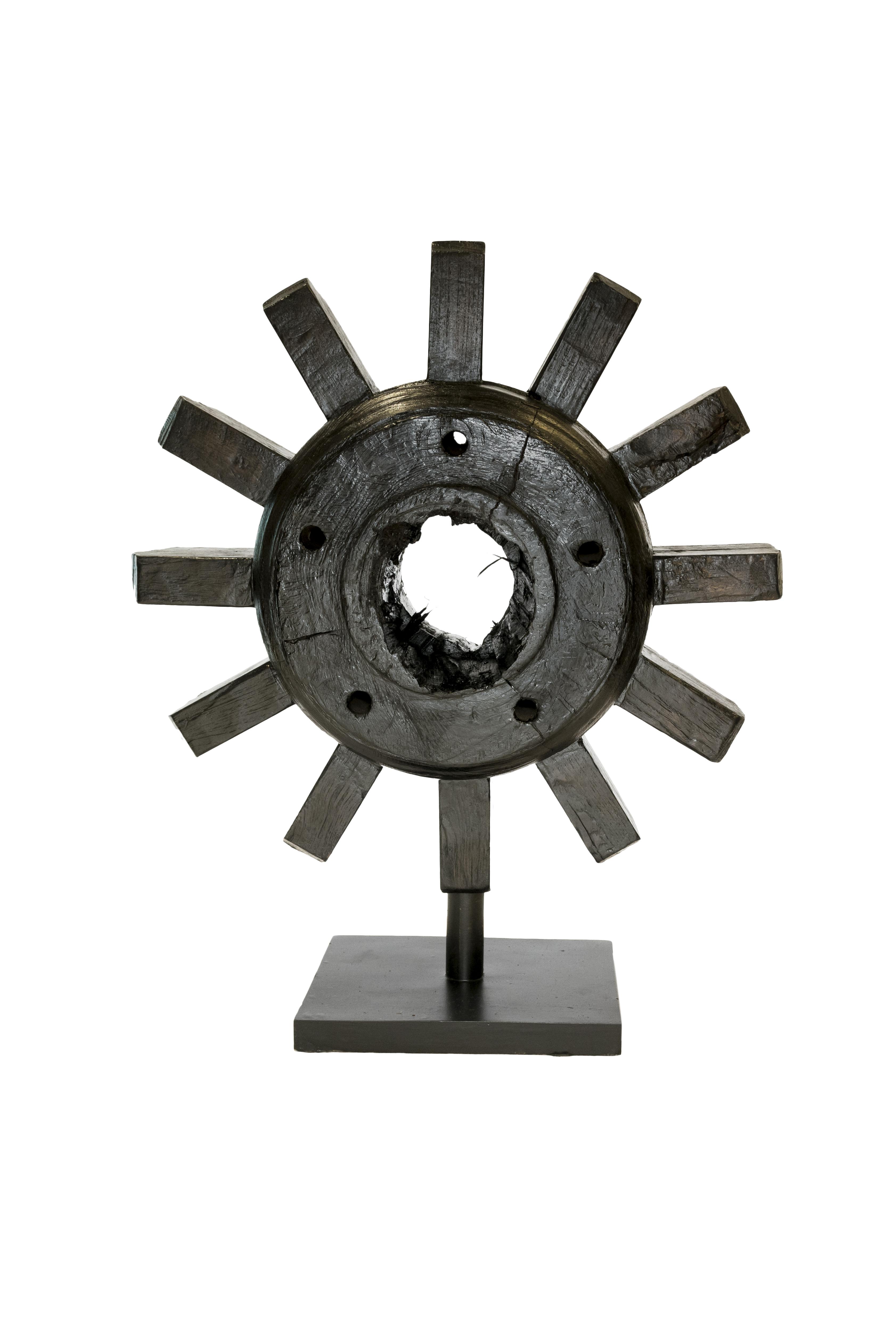 Black Wooden Mill Wheel