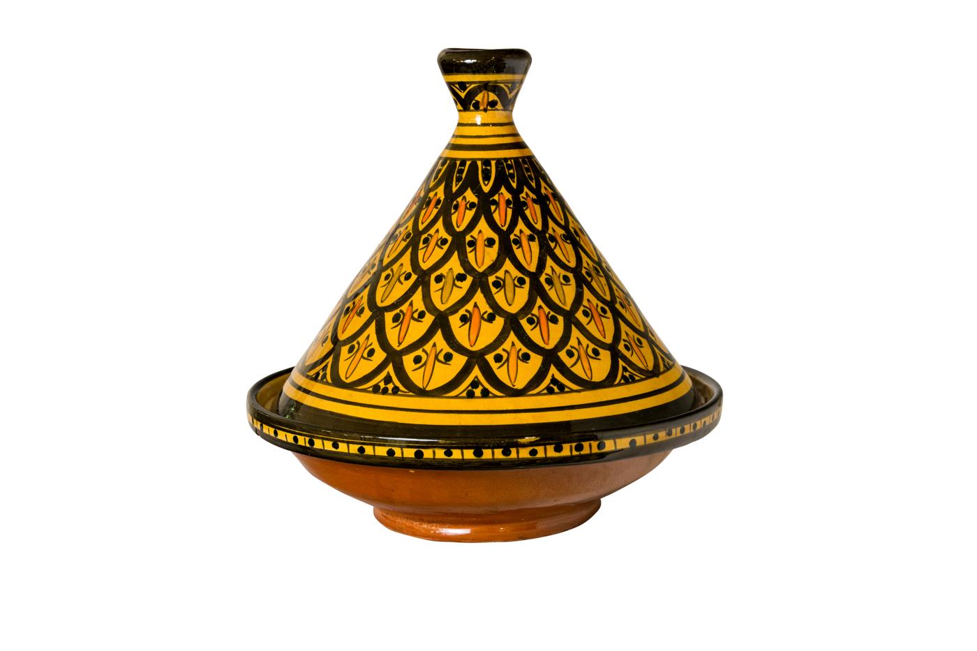Yellow Moroccan Tajin