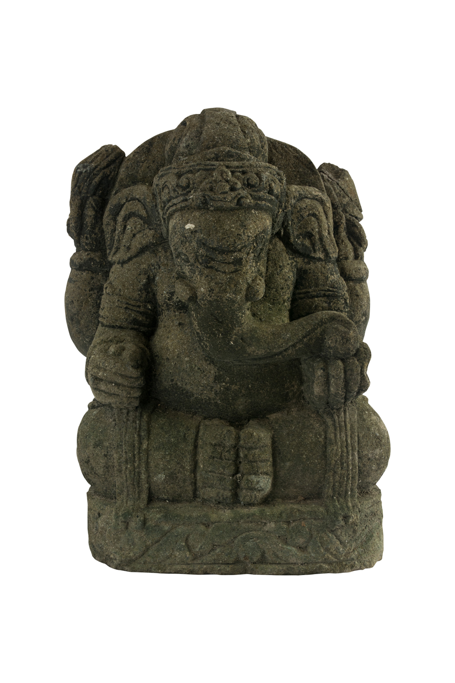 Ganesh carved in stone