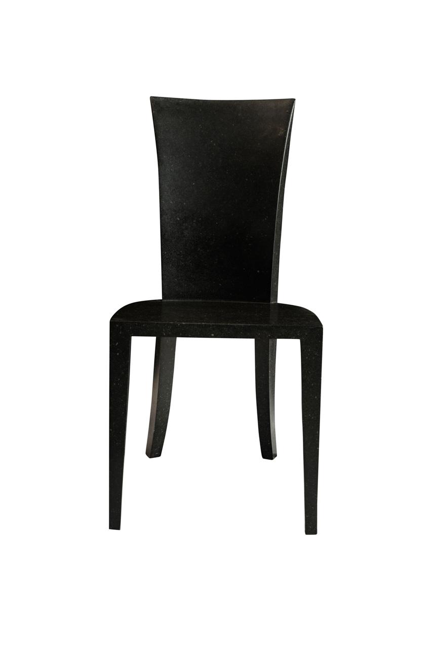 Side chair in terrazzo stone