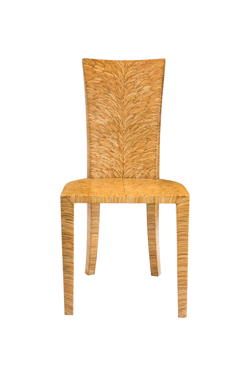 Coconut fiber side chair