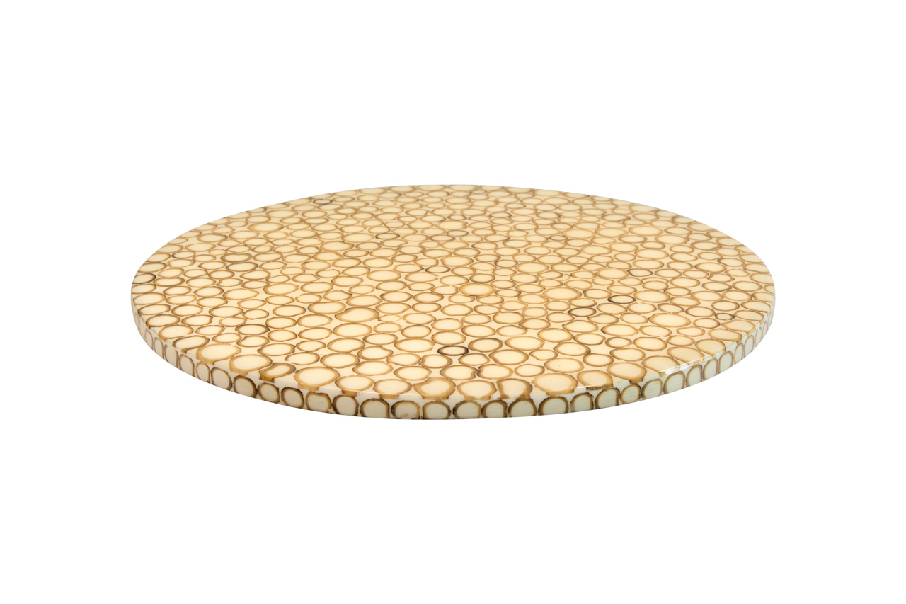 Tabla de queso giratoria semillas de tagua