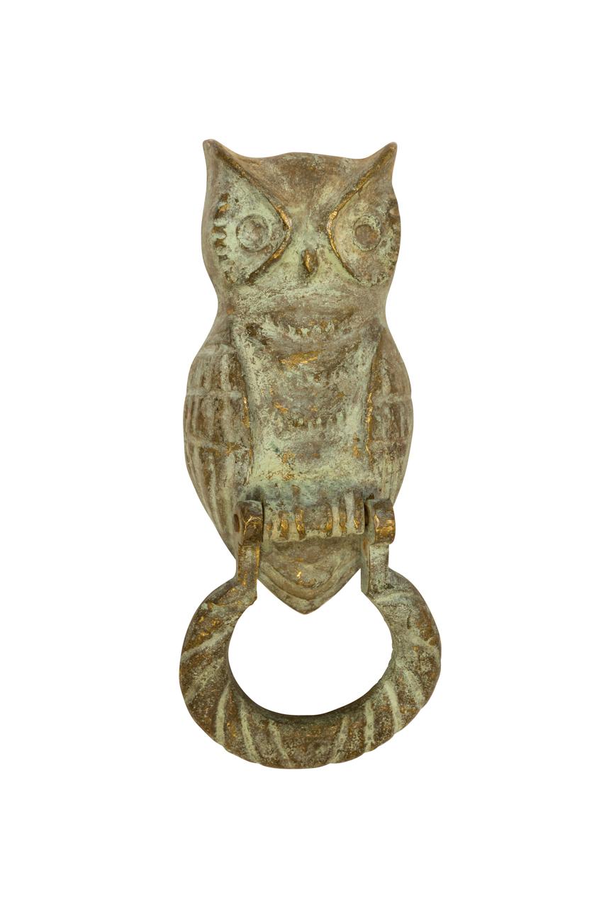 Bronze Owl Knocker