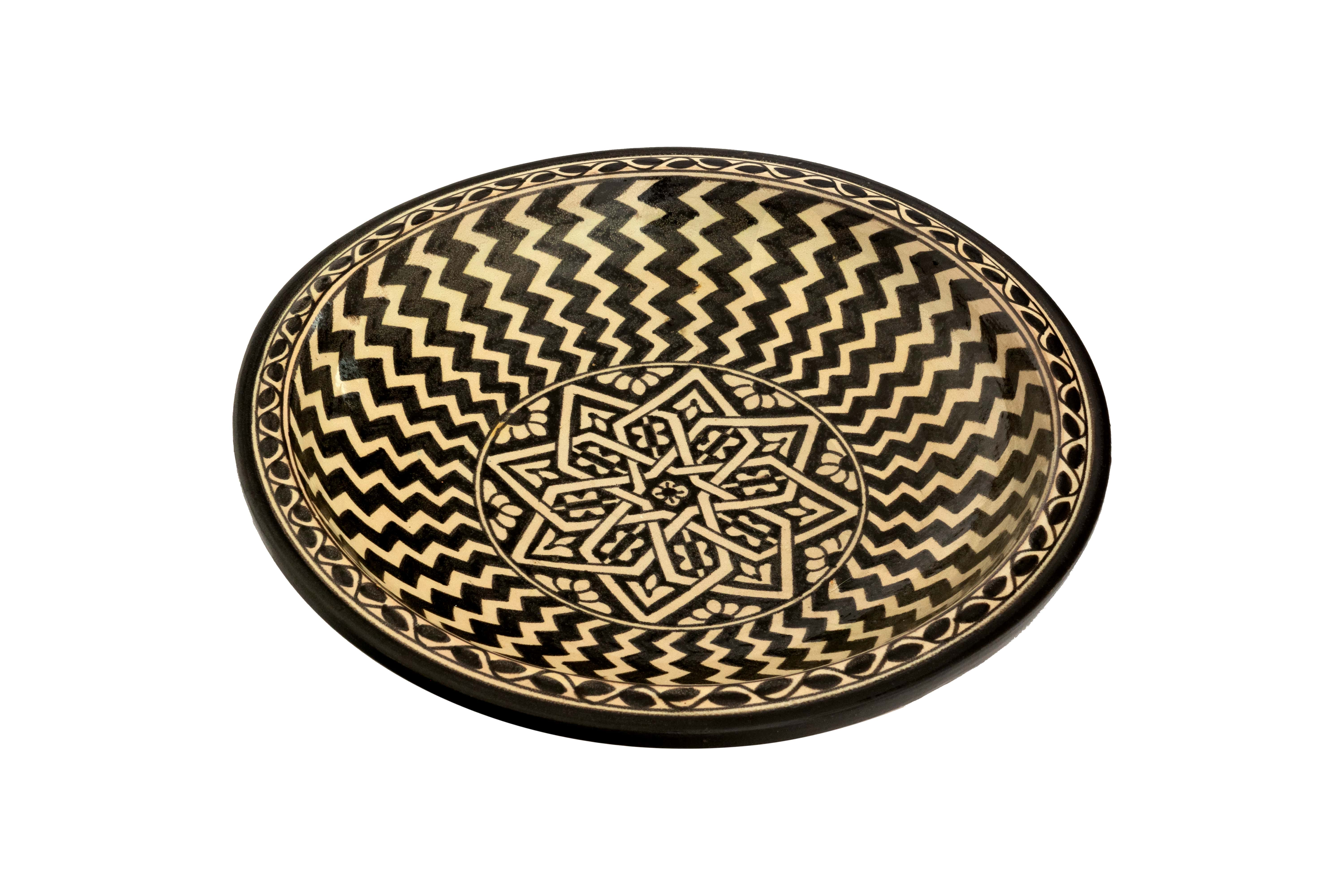 Moroccan Plate Radiant Lines