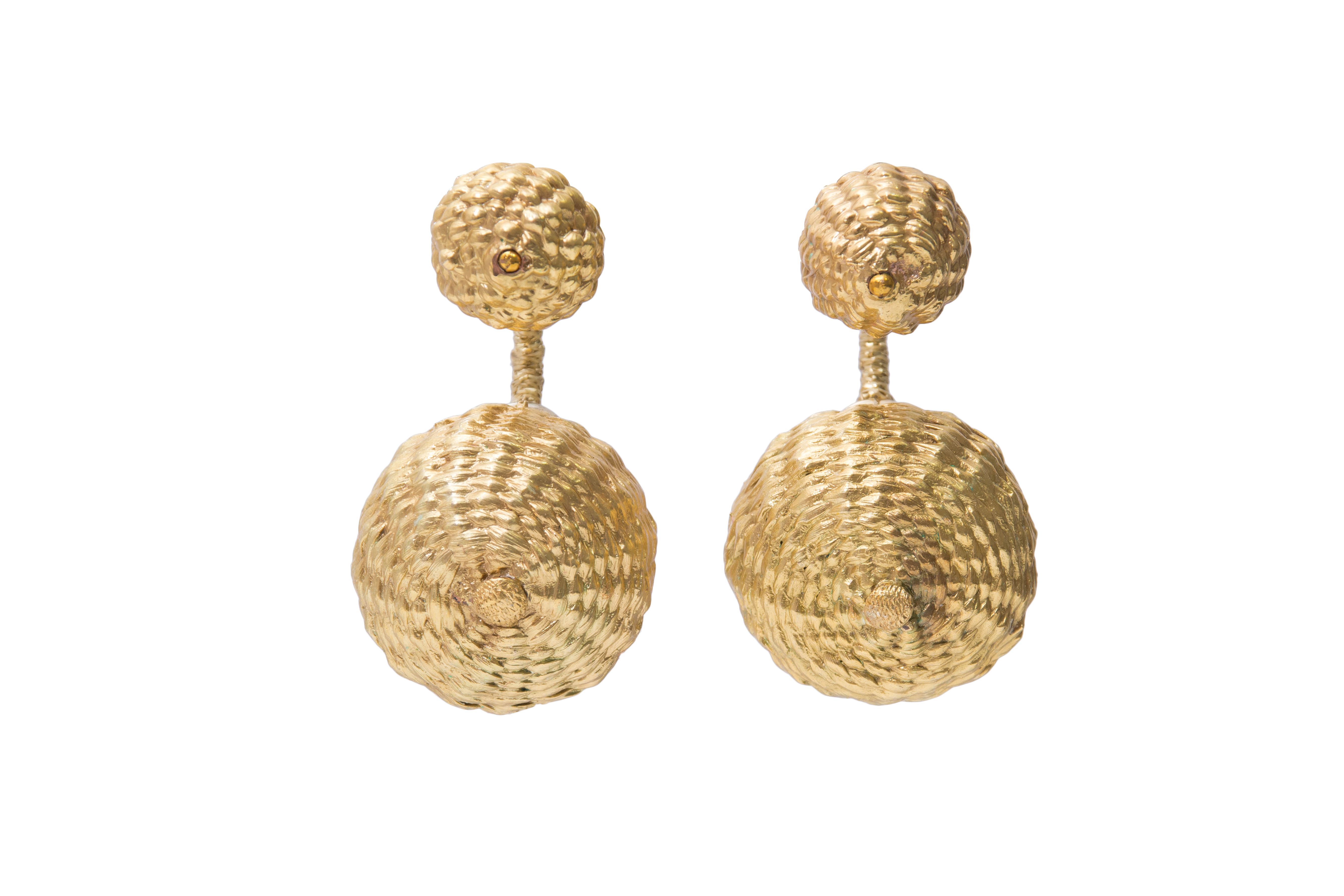 Iraca Palm Dream Duo Earrings Golden
