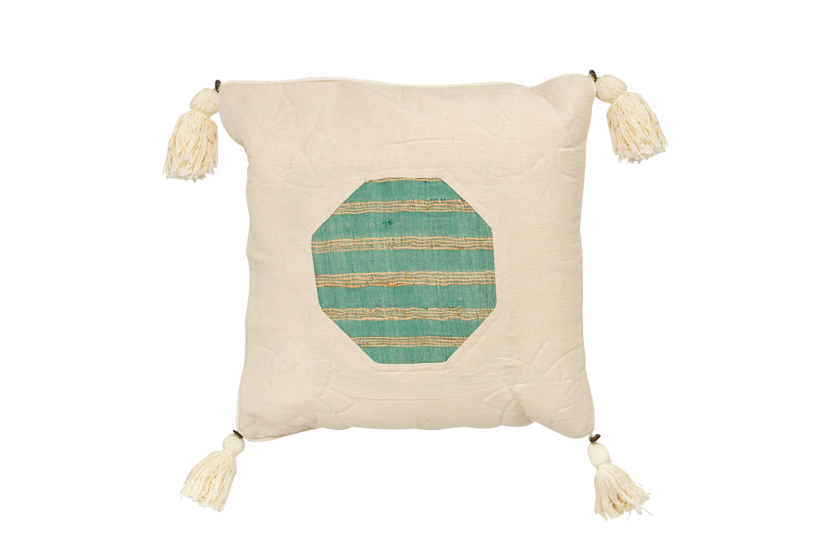 Indonesian cushion Green octagon