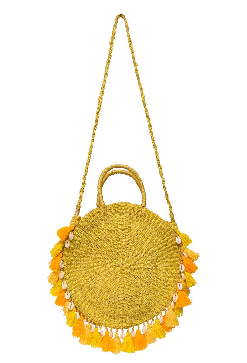 Bolso abacá ticao amarillo