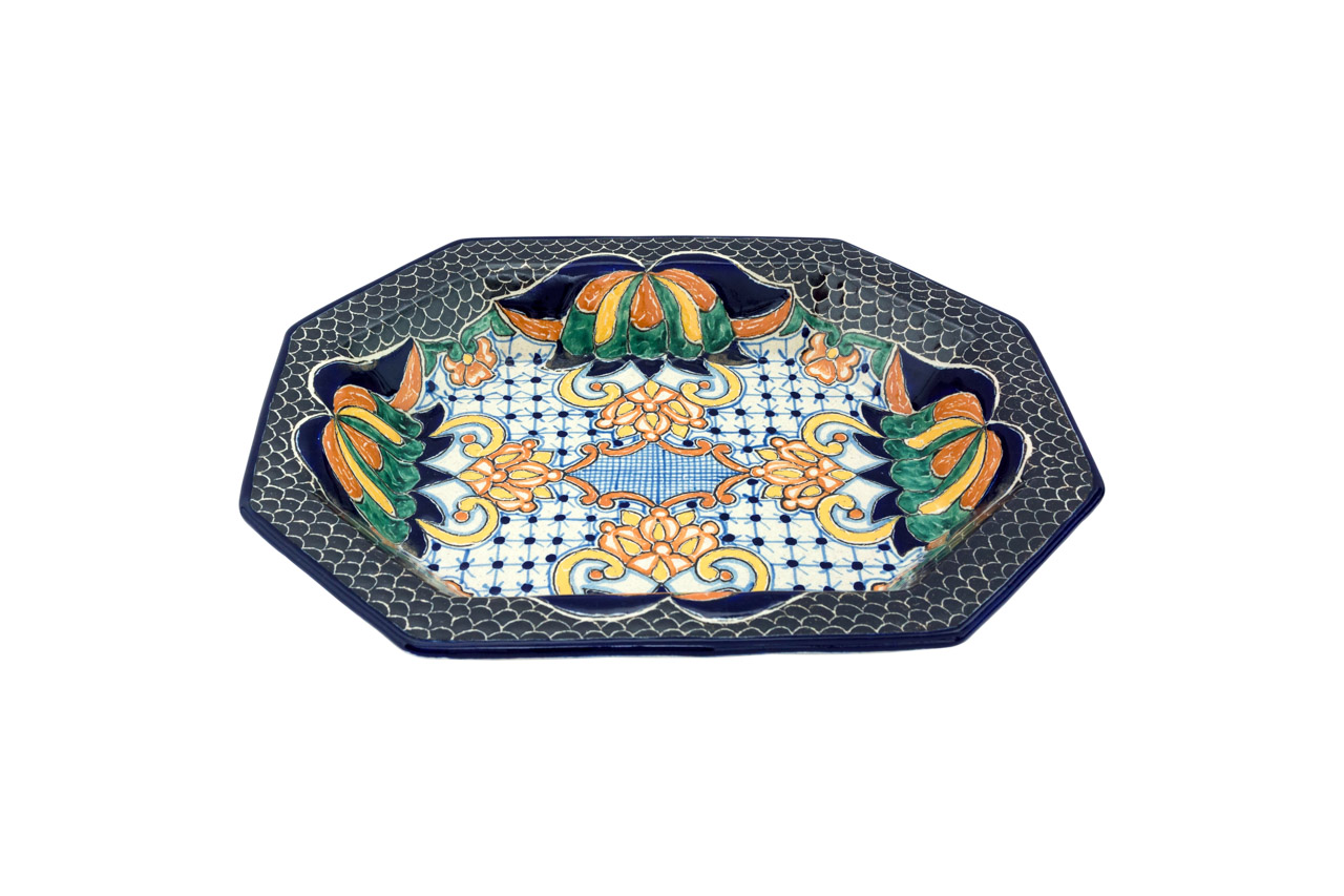 Plato de servir octagonal Uriarte Talavera