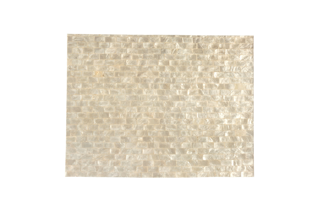 Mother-of-pearl placemat, white