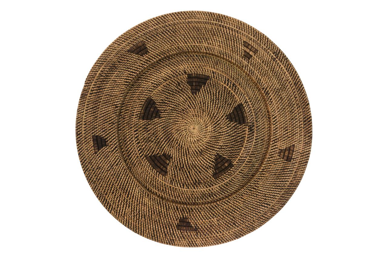 Rattan decorative plate
