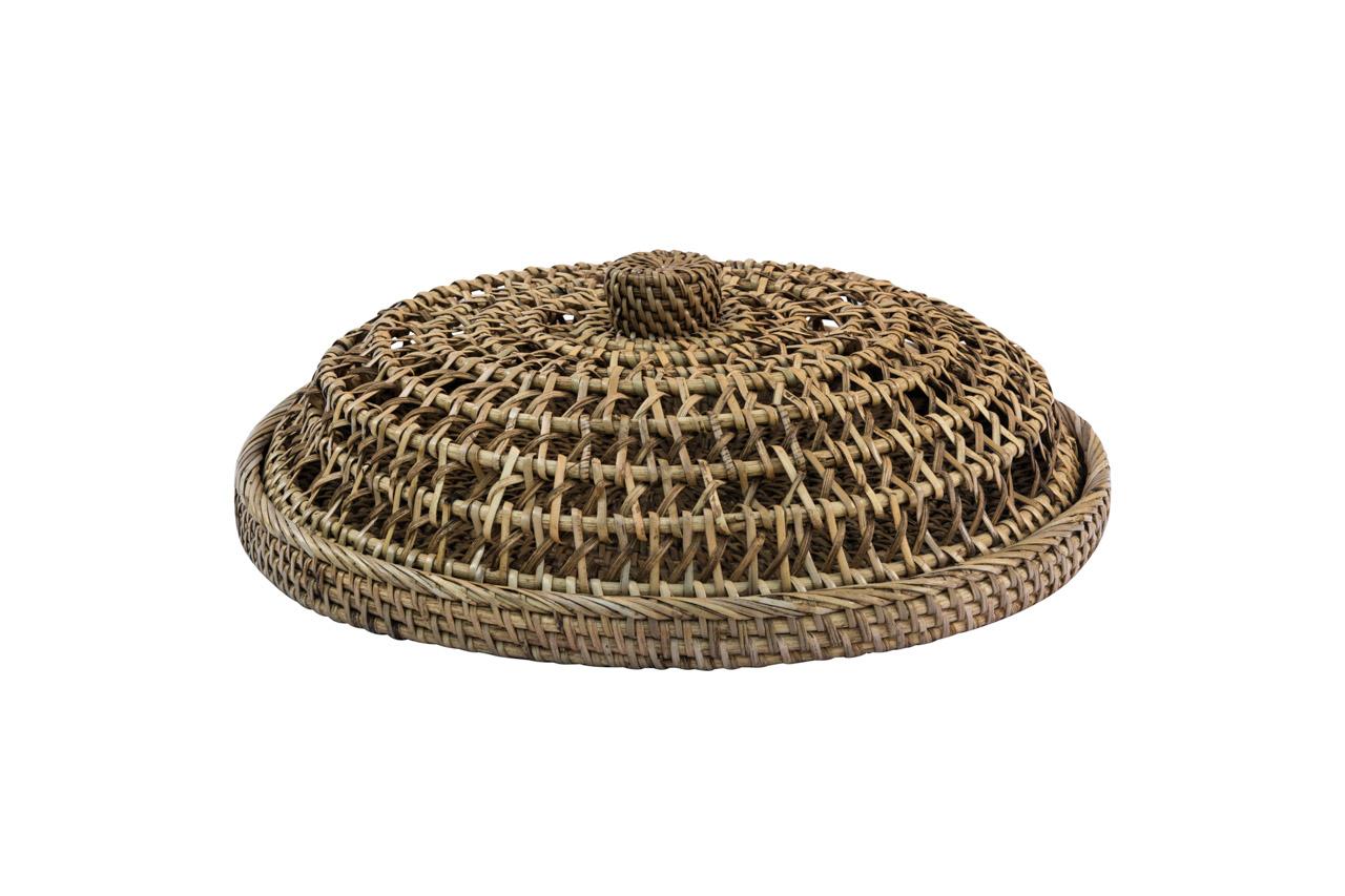 Panera en fibra natural marrón