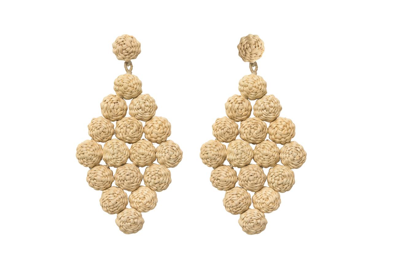 Rhombus Earrings # 2, Natural