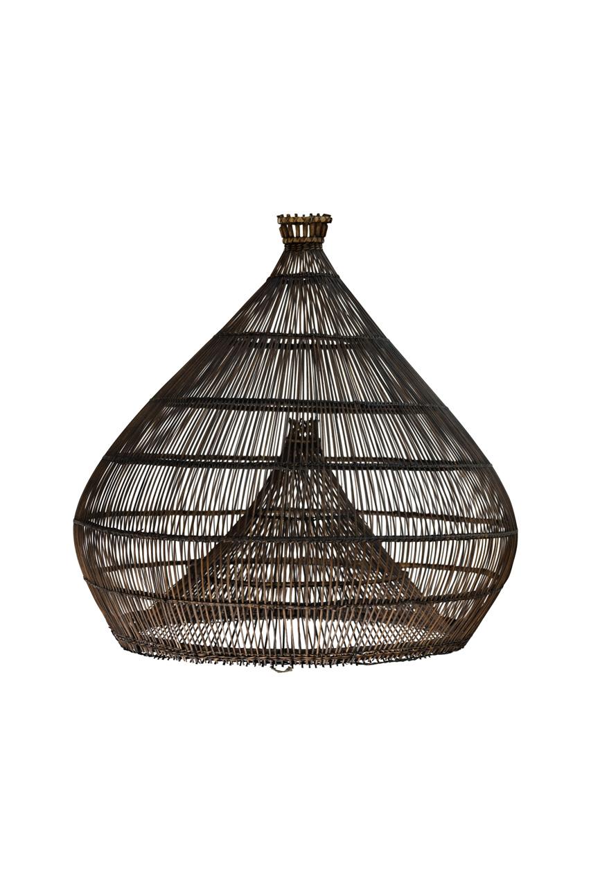 Brown Bali shrimp style lamp