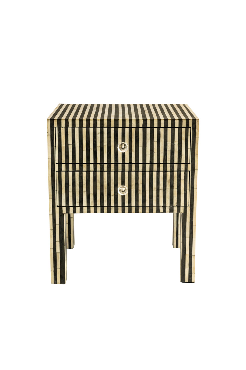 Bedside table with line design