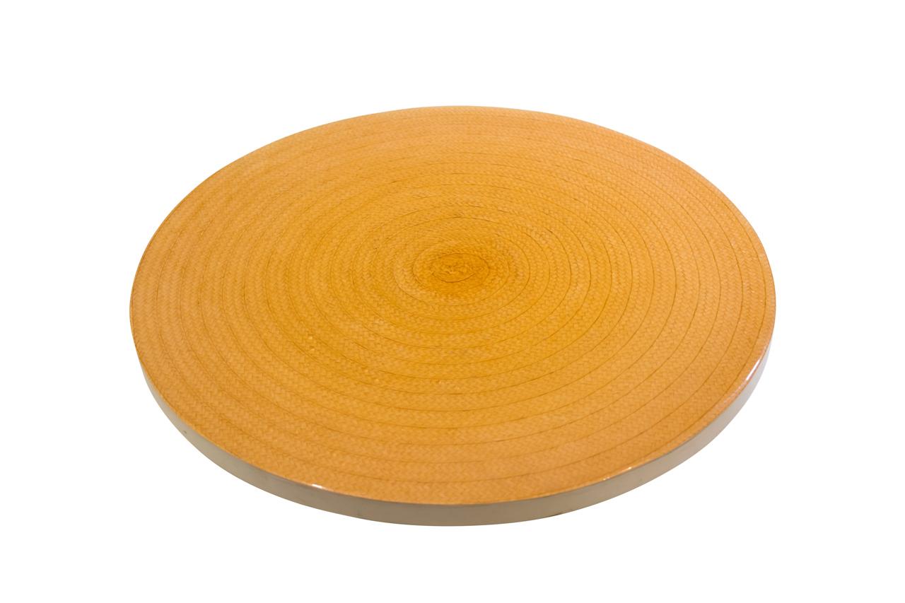 Rotating cheese board caña flecha natural
