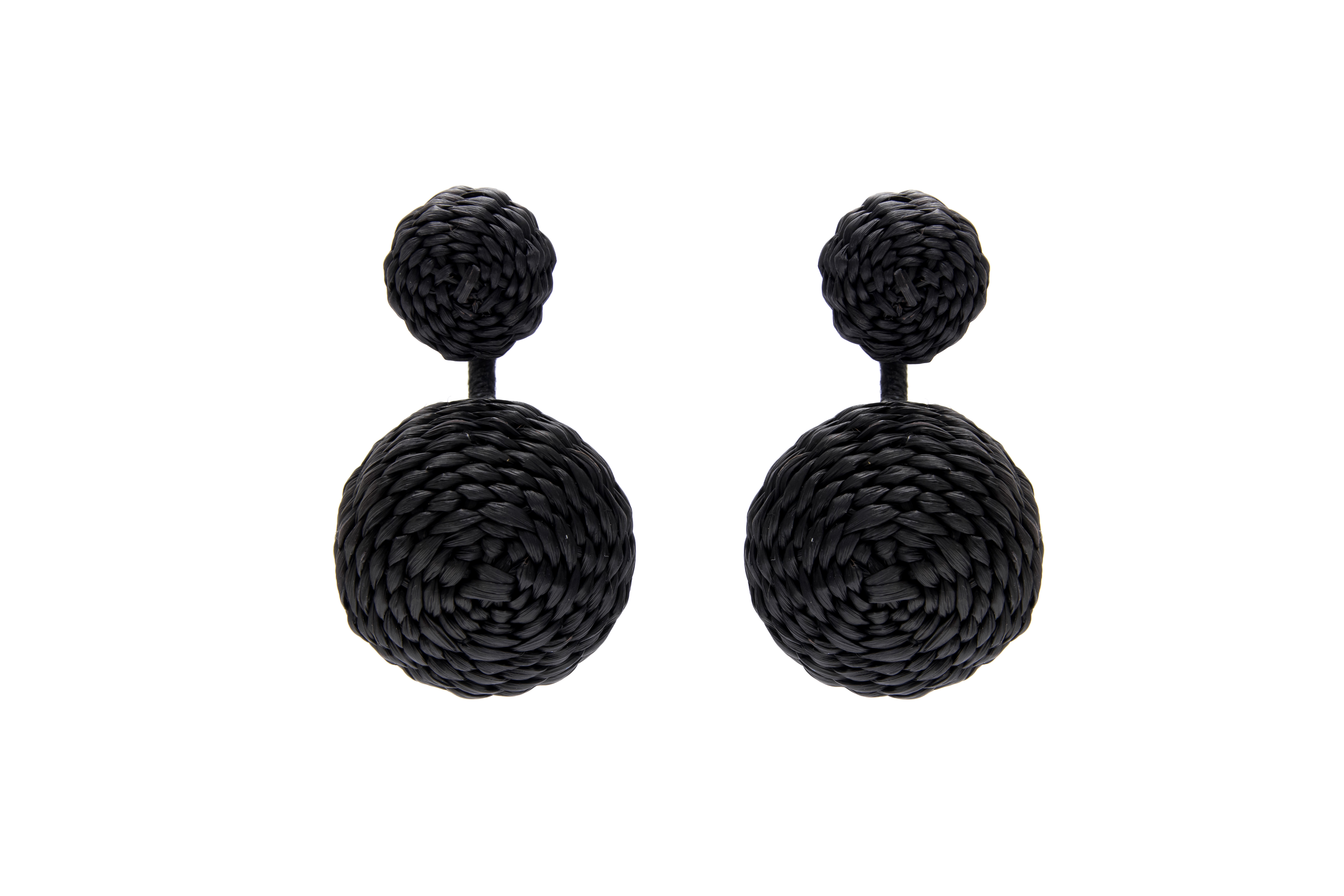 Iraca Palm Dream Duo Earrings Black