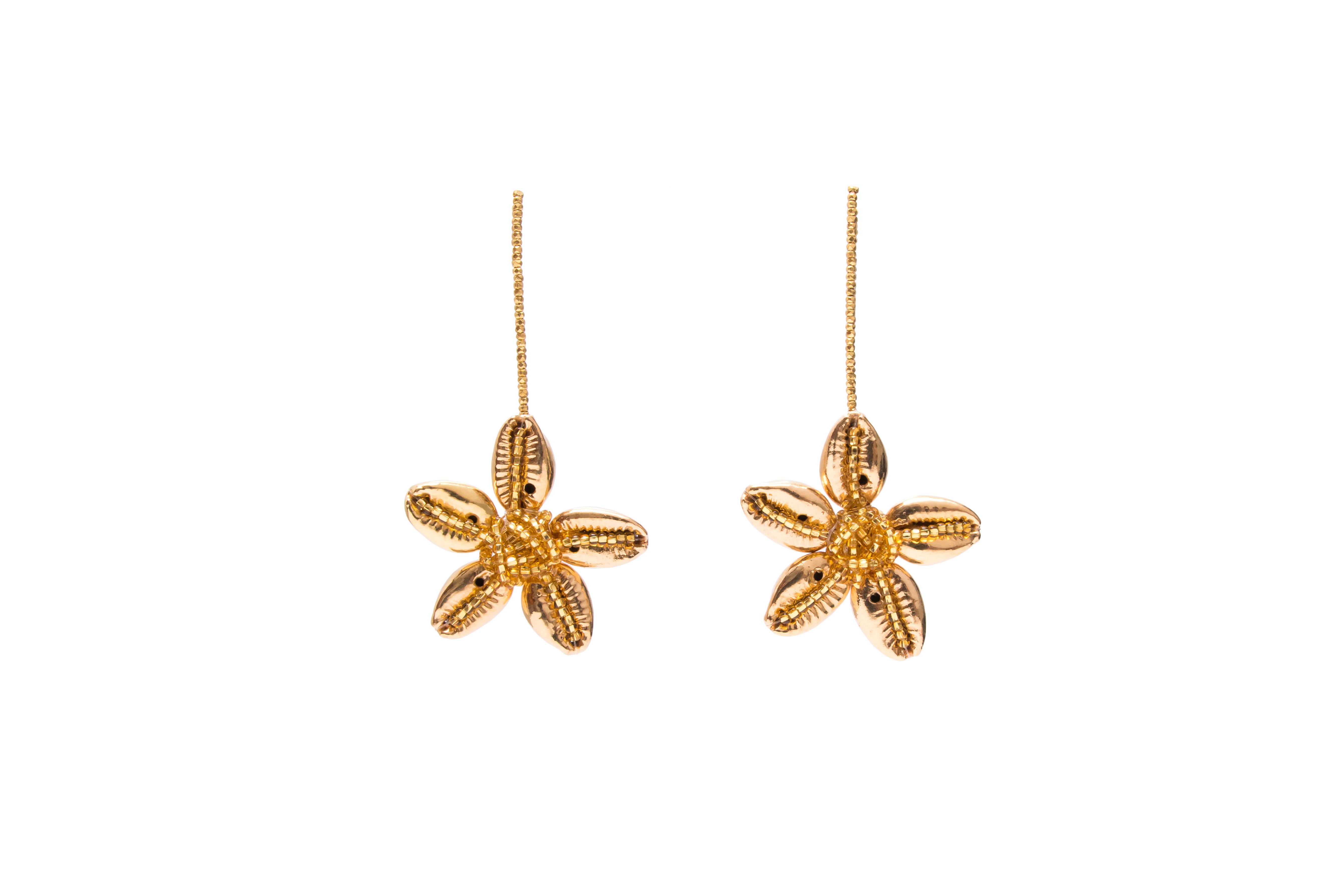 Seashell Flower Earring