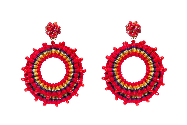 San Jacinto Earrings Red