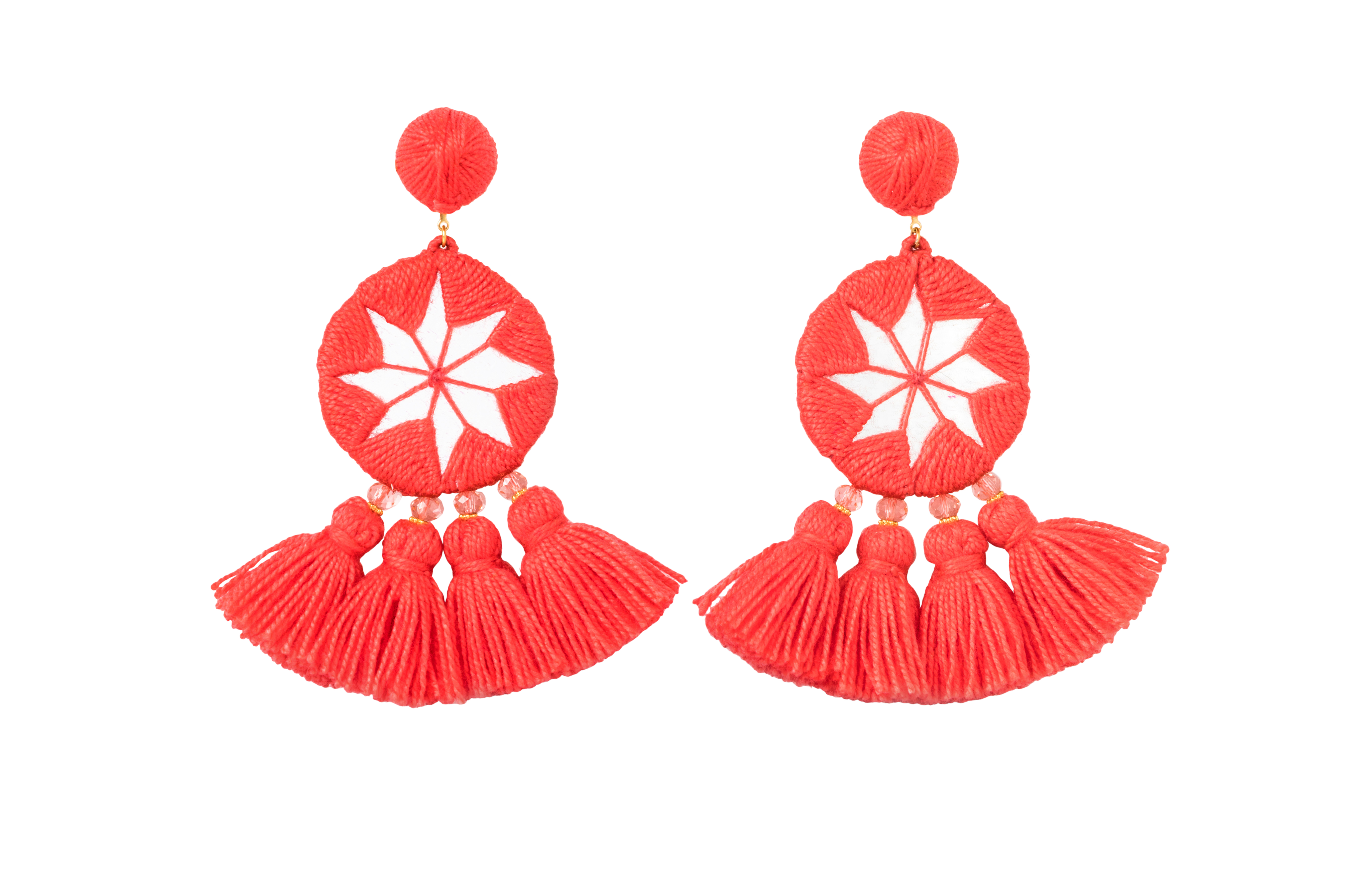 Indian Star's Earrings Coral