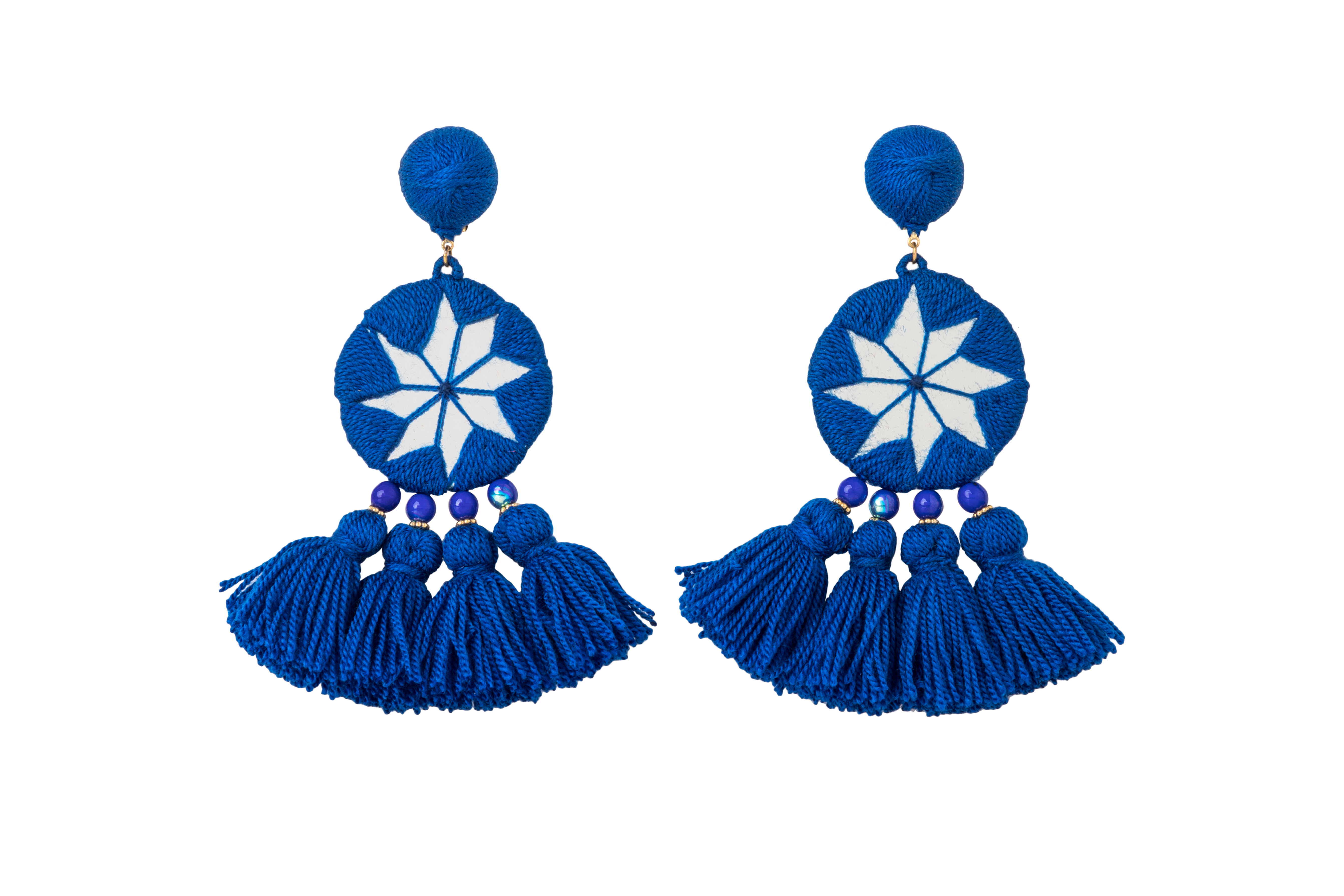 Indian Star's Earrings Blue