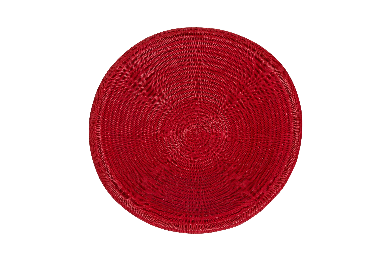 Red werregue plate