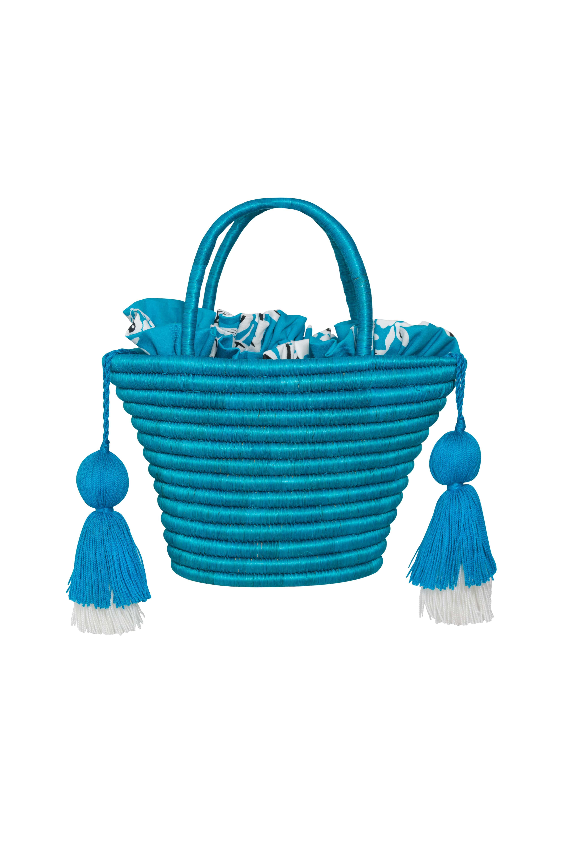 Cartera Guacamaya Azul Turquesa