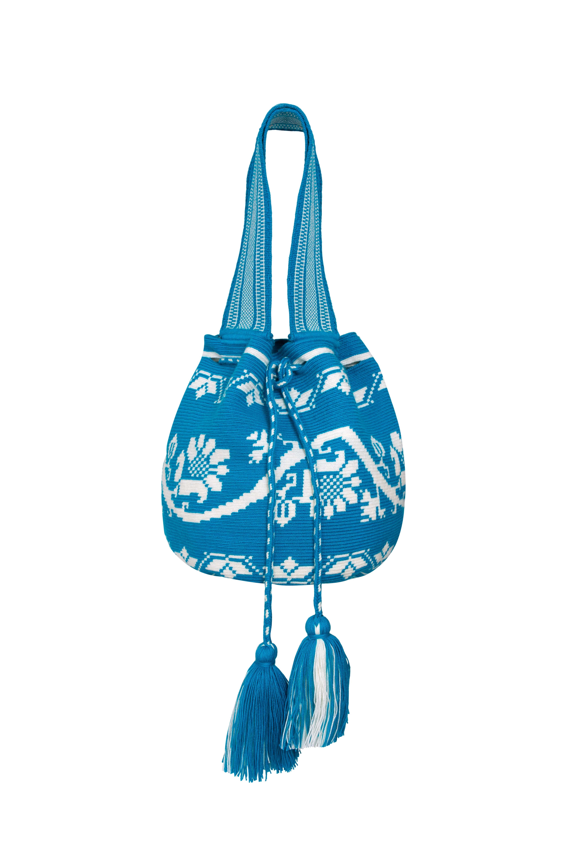 Mochila Wayúu Azul Turquesa